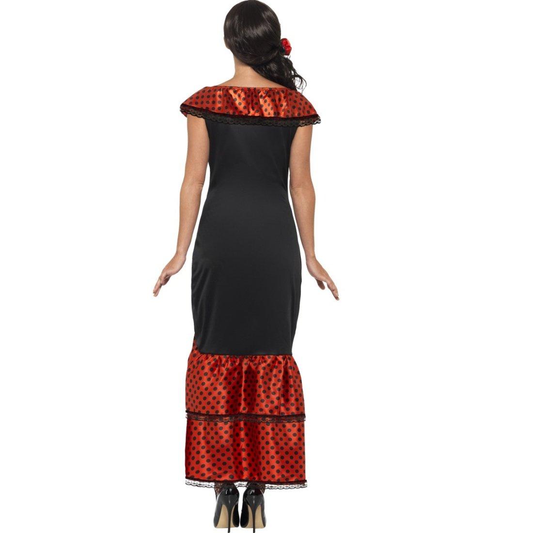 Vestido flamenca Carmen Traje típico español S 36/38 Outfit señorita Ropa bailaora española Atuendo andaluz Caracterización carnaval mujer: Amazon.es: ...
