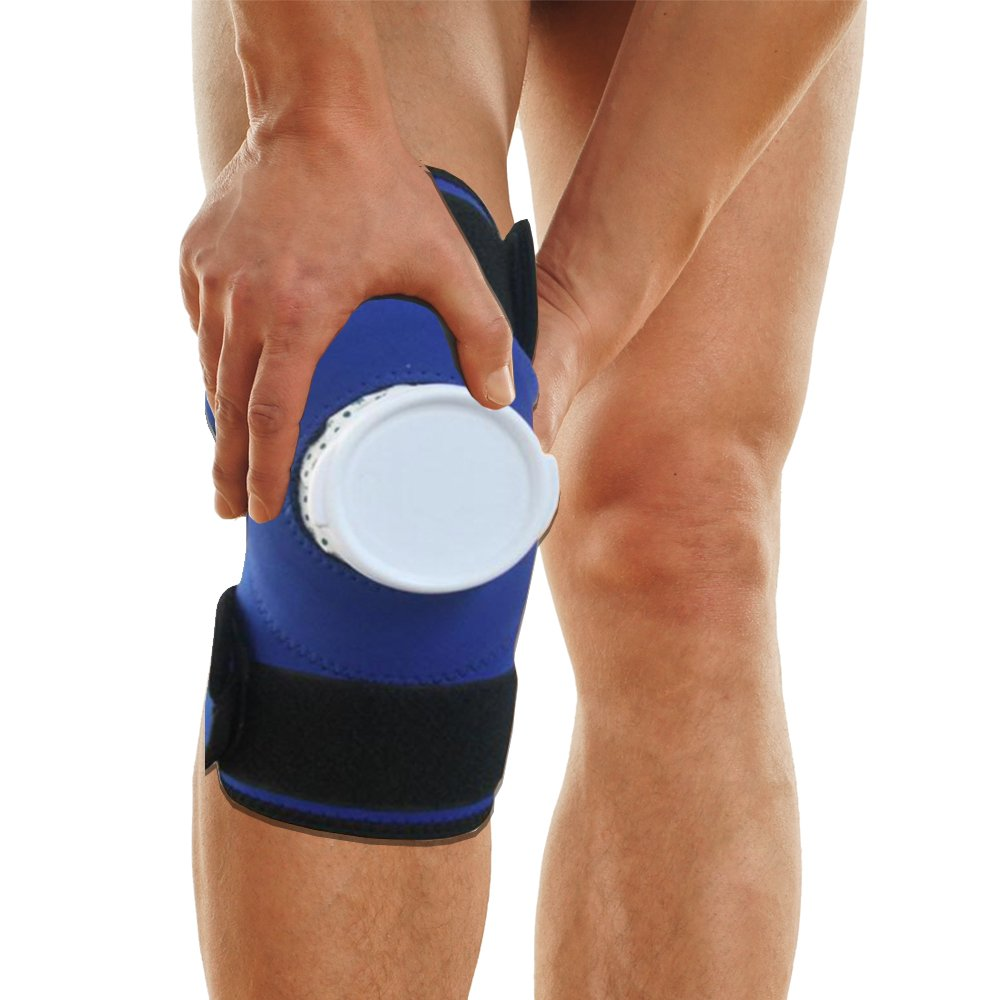 PU Health Pure Acoustics Cold Therapy Knee Brace for Pain Relief with Removable Ice Bag