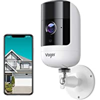 Security Camera Outdoor, Voger 1080P Wireless Rechargeable Battery Powered Security Camera with Dual PIR Motion…