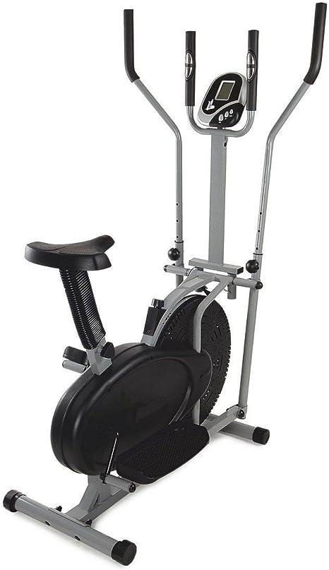 Bicicleta Estática y Elíptica Cross Trainer, dos en Uno: Amazon.es ...