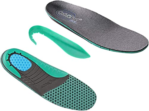 Topker 1 Pair Arch Support Foot Cushion men,Shoe inserts high Pads Compression Massager for Flat Feet Green