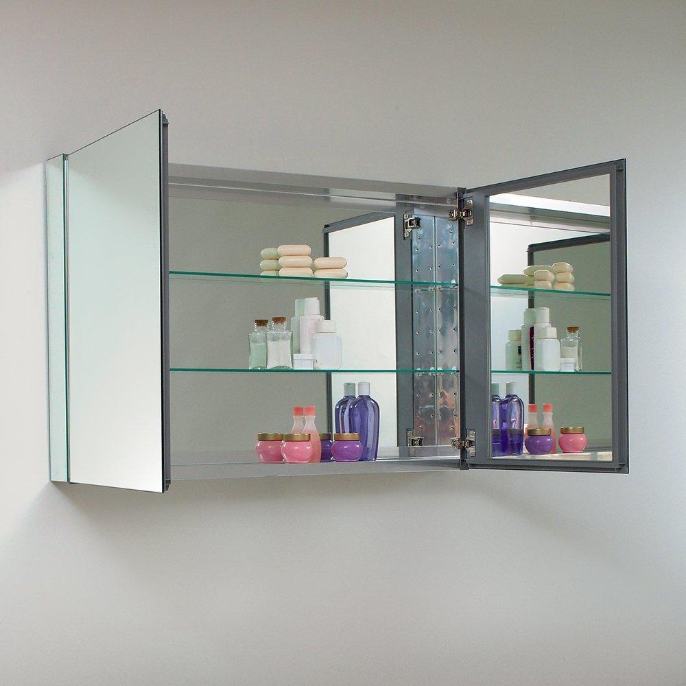 Amazon Fresca Bath FMC8010 40 Wide Bathroom Medicine Cabinet With Mirrors Home Improvement