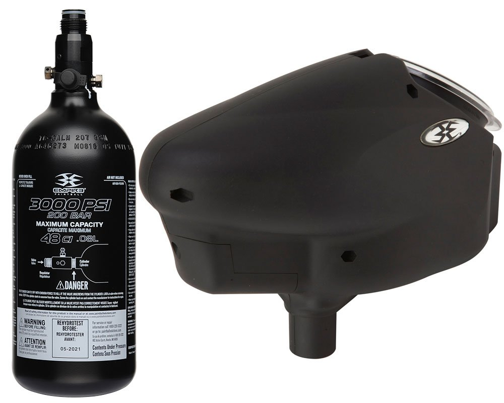Invert Halo TOO Loader and Genuine Empire 48ci HPA Paintball Compressed Air Tank Combo by Empire