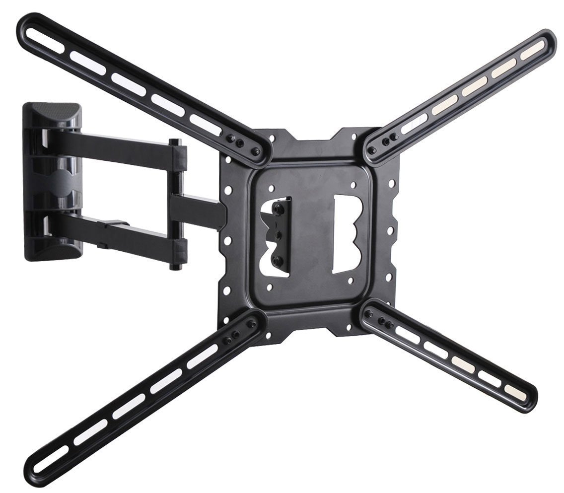 VideoSecu 24'' Long Arm TV Wall Mount Low Profile Articulating Full Motion Cantilever Swing Tilt wall bracket for most 22'' to 55'' LED LCD TV Monitor Flat Screen VESA 200x200 400x400 up to 600x400mm MAH