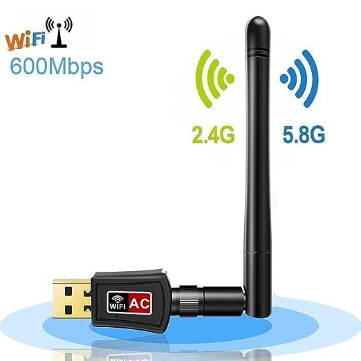 20 opinioni per Adattatore WiFi USB 600Mbps, Dootoper WLAN Stick 600 Mbit / s, dual-band (5 GHz