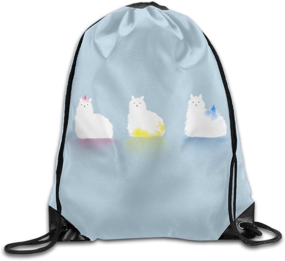 VIMUCIS Alpaca Art Drawstring Backpack Rucksack Shoulder Bags Training Gym Sack For Man And Women