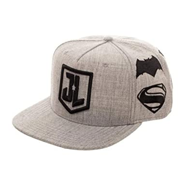 wholesale dealer c6cb8 30baf Justice League Embroidered Logo Snapback Hat