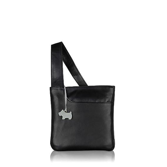 a1baf8489f5f48 RADLEY Pocket Bag Black Leather Small Cross Body Bag: Amazon.co.uk: Clothing