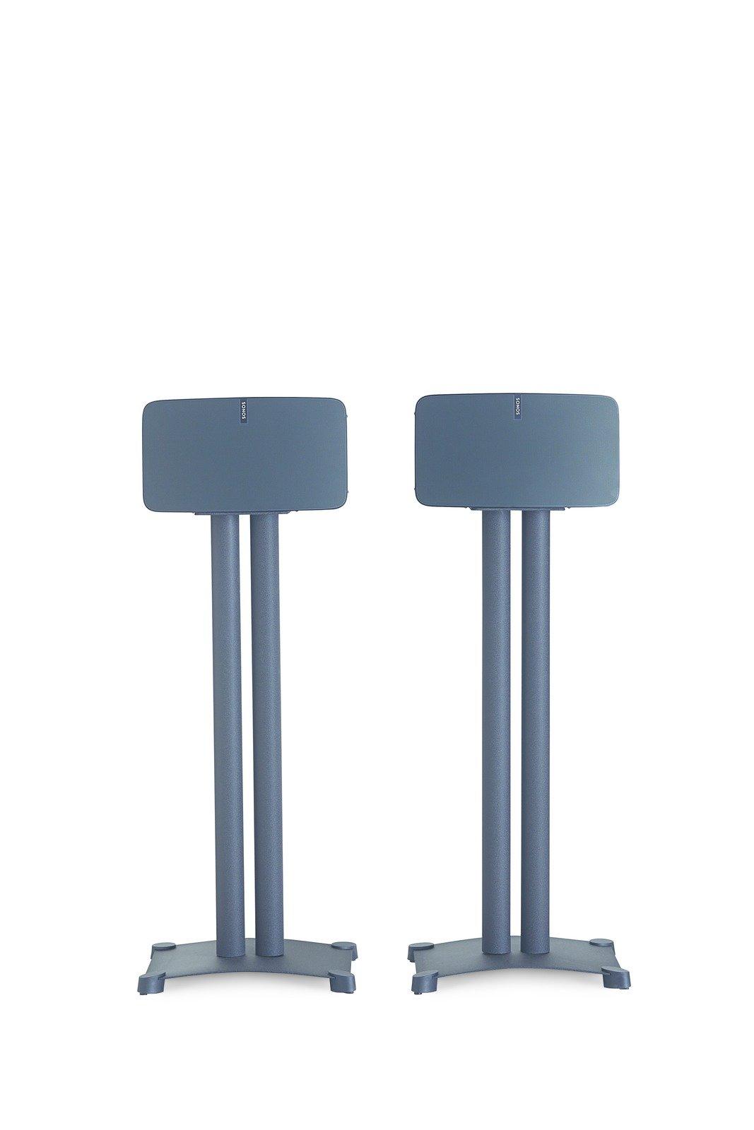 Sanus Steel Foundations 34 Inch Steel Speaker Stands, Pair (Black) - SF34-B1