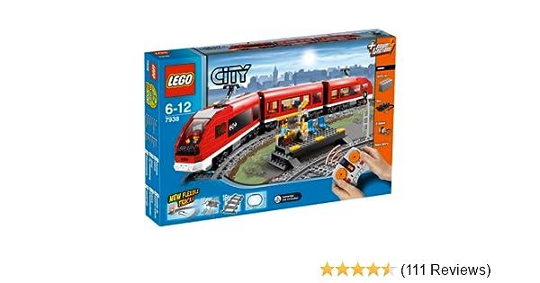 Amazoncom Lego City Passenger Train 7938 Toys Games