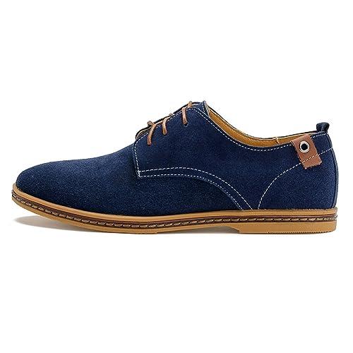 Zapatos de Cordones PU-Cuero Zapatillas de Vestir para Hombre: Amazon.es: Zapatos y complementos