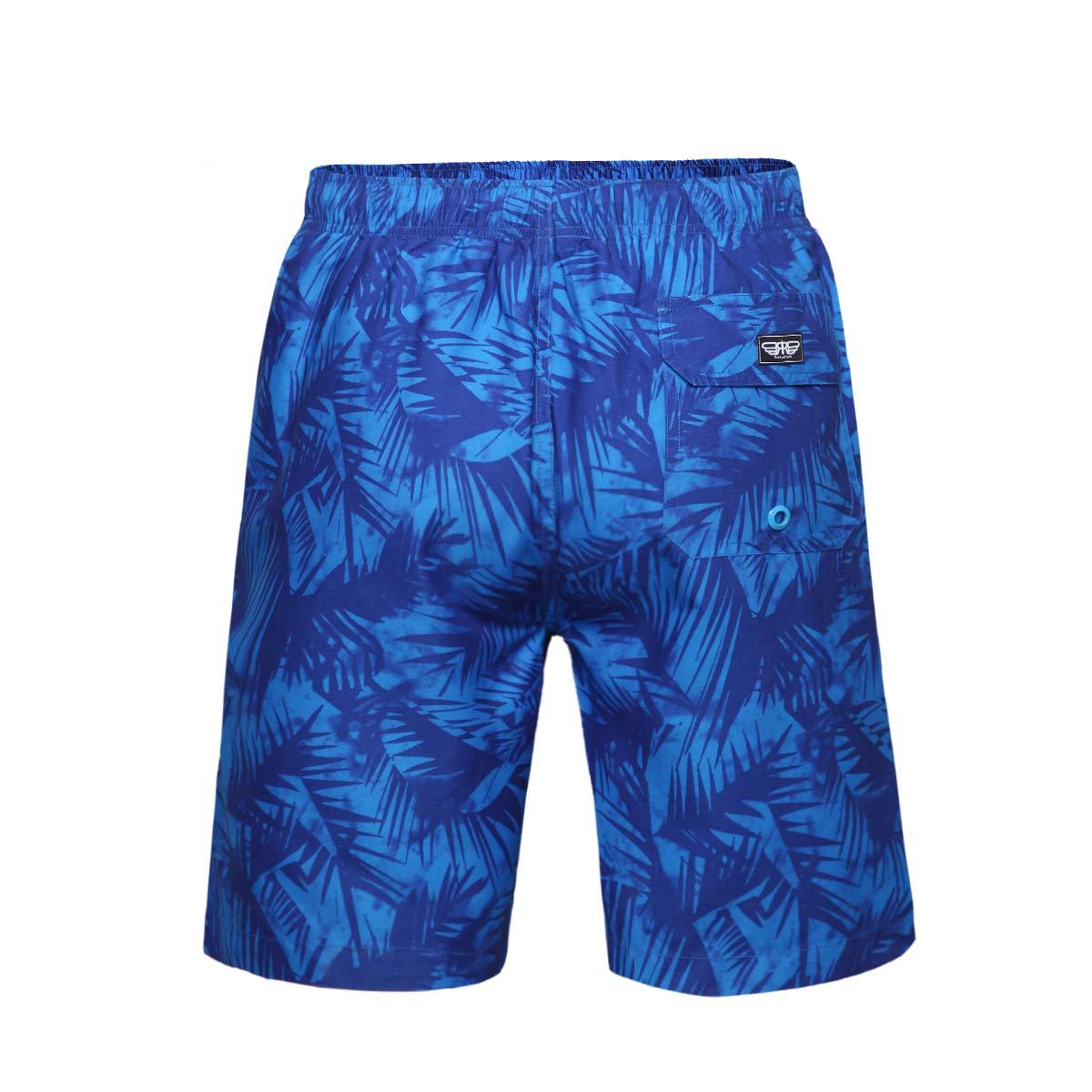 5ac13ba78efa15 Rokka Rolla Men s Quick Dry Drawstring Waist Swim Trunks Board Shorts with  Mesh Lining