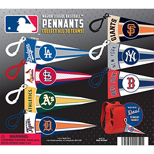 - NEW!! MLB Mini Pennants With Clips (Complete set, featuring all 30 team Logos from the Major League Baseball)