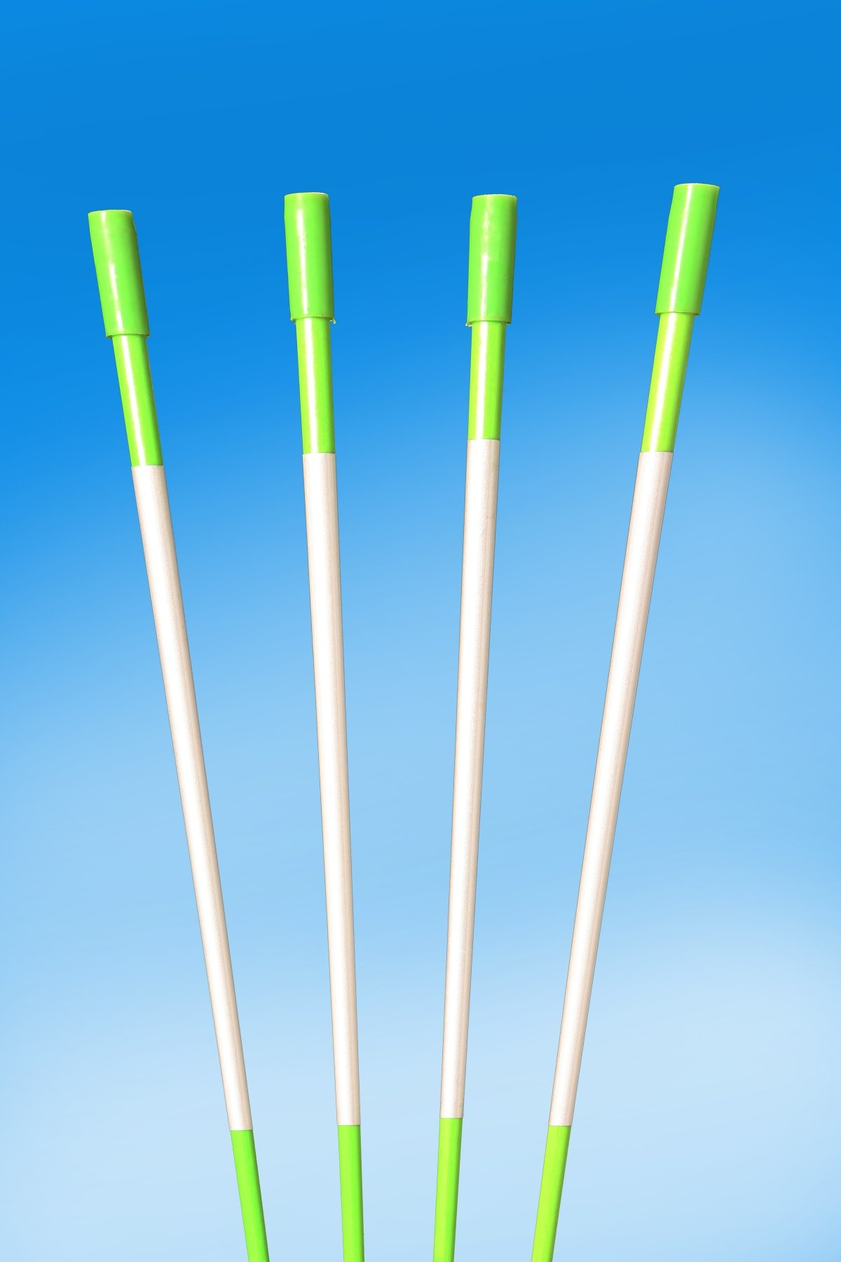 60'' FLUORESCENT GREEN 100 Driveway Markers, Reflective Snow Stakes, Plow Stakes,5/16'' Thick X 60'' GREEN Fiberglass Stakes , 100 Pack 5 FT. TALL by PlowStakes.com
