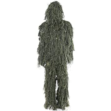Ghillie Suit 3D Traje de Camuflaje Ghillie Suit Woodland ...