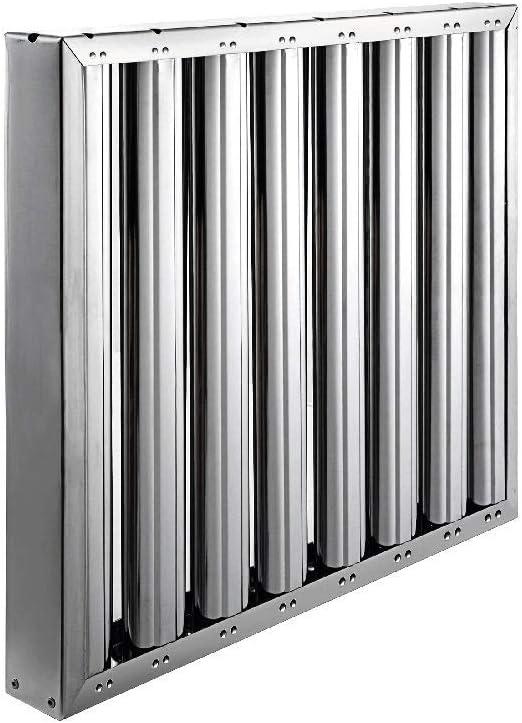 Quickware Filtro para Campana de Cocina Industrial de Lama Acero Inoxidable | Medidas (490x490x48mm) | Flitro de Lama en Acero Inoxidable AISI430Campanas Hostelería | Colocación Simple