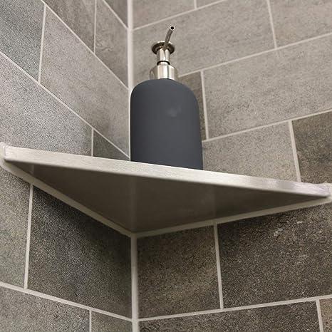 Esquinera thiri de Esquina Ducha sin Agujeros para baño y Cocina enlosable (Acero Inoxidable V2 A: Amazon.es: Juguetes y juegos
