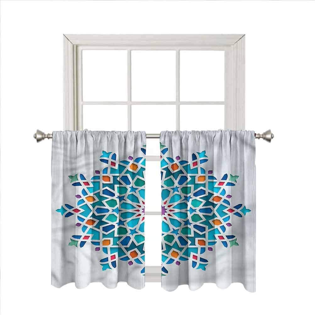 LCGGDB n Rod Pocket Blackout Curtain Panels,Damask Home Decor Window Treatments Draperies for Bedroom/Nursery/Kitchen/Living Room,42 x 54 Inch, 2 Panels