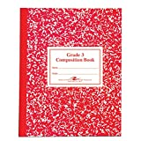 Roaring Spring Paper Products Composition Book, Grade 3 Ruled, 50 Sheets, 9-3/4 x 7-3/4 Inches, Red (ROA77922)
