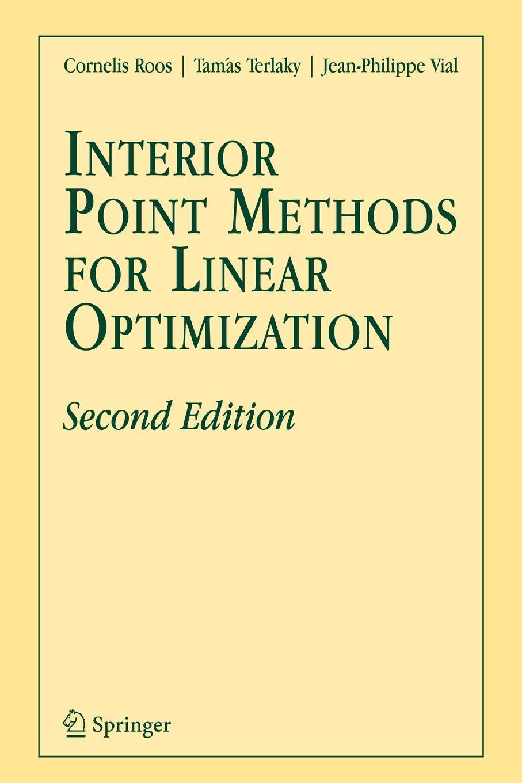 Download Interior Point Methods for Linear Optimization pdf epub