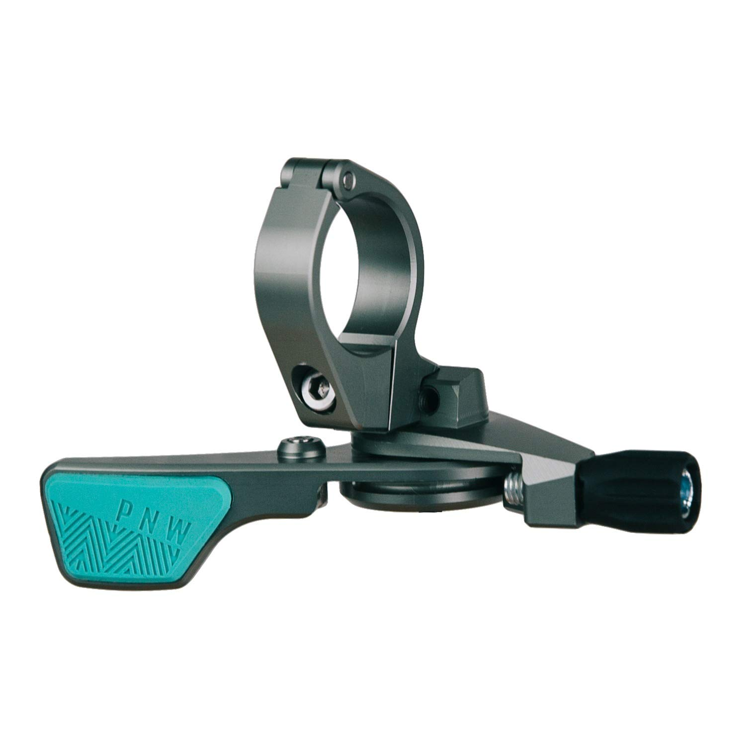 PNW Components Loam Lever Dropper Remote (Grey/Teal, Standard 22.2mm Clamp) by PNW Components