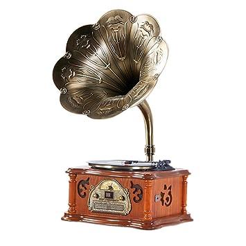 Power uk- Grabador de fonógrafo de la Vendimia Cuerno Grande ...