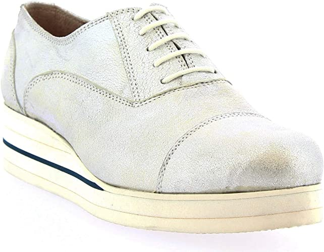 silver lace ups