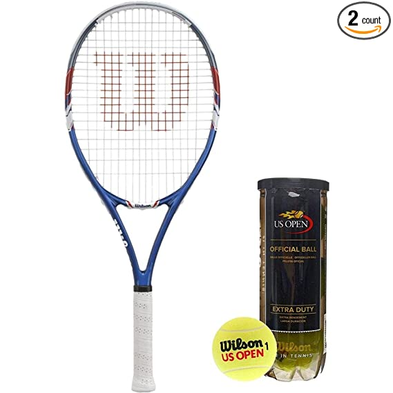 Amazon.com: Wilson US Open Raqueta de tenis encordada ...