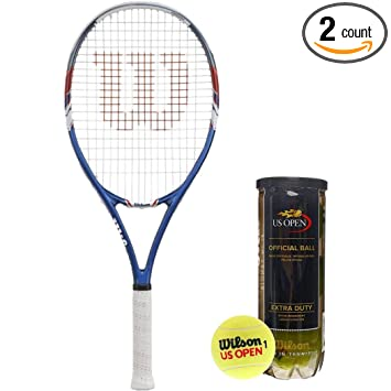 Amazon.com: Wilson US Open Raqueta de tenis encordada ...