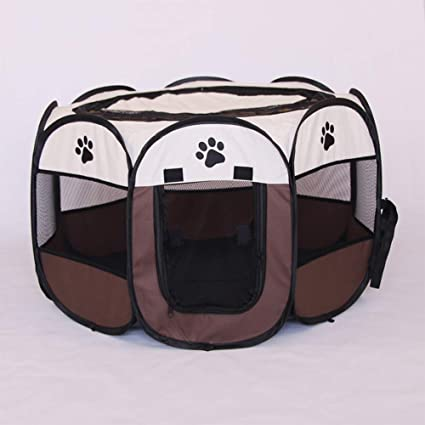 quanju cheer Pet Supplies Caja Plegable Oxford Tela Valla Cachorro ...