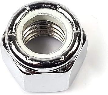 1//2-13 Select Size #10-24 Through 5//8-18 Qty 10 Chrome Nylon Insert Lock Nuts Nylock USA Made