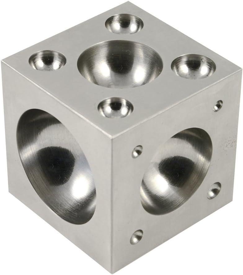 Calidad de acero plano dapping bloque Placa de fabricación de joyería con 14 Media Esferas