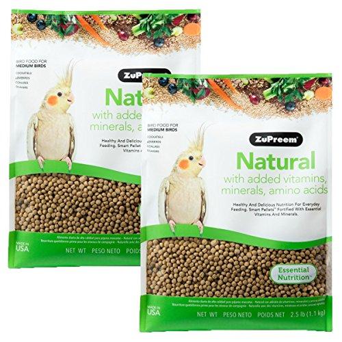 ZUPREEM 230353 Natural Medium Bird Food, 2.5-Pound, 2 ()