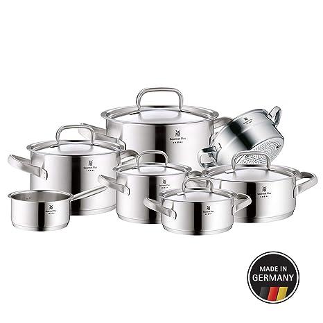 WMF Gourmet Plus 07.2007.6030 Kit 7 Pieza(s) -Kits de cacerolas (Acero Inoxidable, Vidrio, 250 °C)