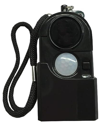 Pack 3 Alarmas Portátiles con Sensor de Movimiento y Linterna (Negro)