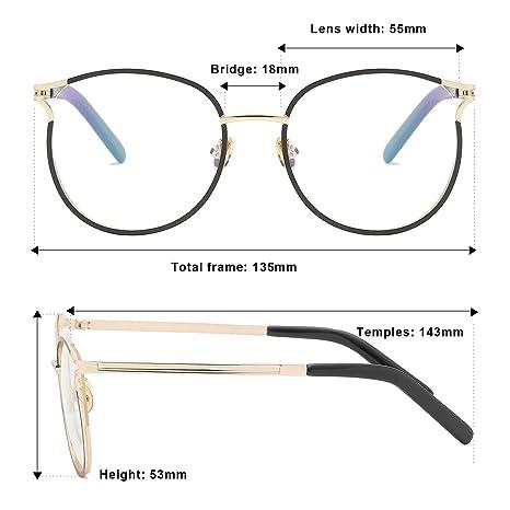 2ff9e438a822 Amazon.com  Blue Light Filter Computer Glasses for Blocking UV Headache Anti  Eye Eyestrain Transparent Lens VL9007 Black Frame  Health   Personal Care