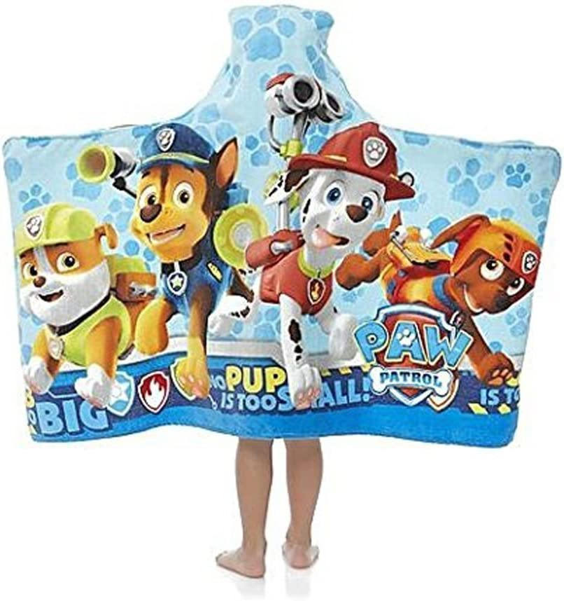 24 x 50 in Paw Patrol Girl Puppy Plays Hooded Beach Towel Wrap