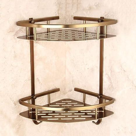 LifeX Europeo Antiguo Ducha Caddy Montaje en Pared Inodoro Cuarto de baño Estante Estante Bastidor de