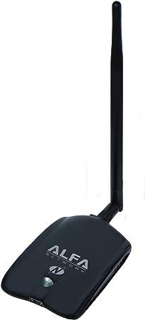 Alfa Network AWUS036NHA - Adaptador USB WiFi, 150 Mbps, 802.11b/g/n, Conector RP-SMA, chipset Atheros AR9271L