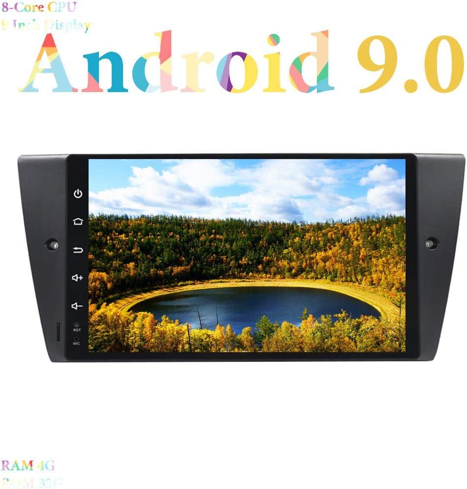 XISEDO Android 9.0 Autoradio 9 Pulgadas Car Radio 8-Core RAM 4G ROM 32G In Dash Radio de Coche GPS Navigation para BMW 3 Series E90/ E91/ E92/ E93 (Autoradio)