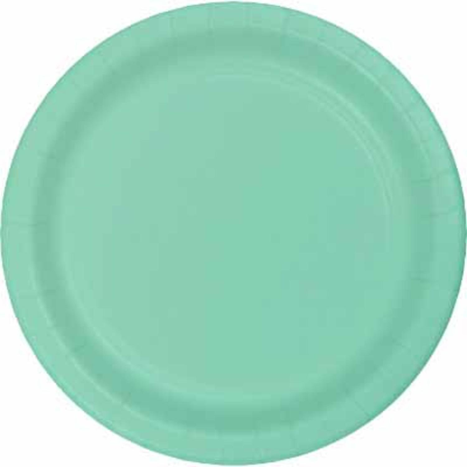 Club Pack of 240 Fresh Mint Green Premium Durable Paper Banquet Plate 10'' by Party Central