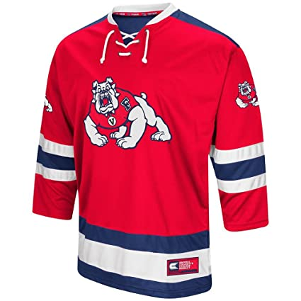 premium selection d9ab9 5d27c Colosseum Mens Fresno State Bulldogs Hockey Sweater Jersey
