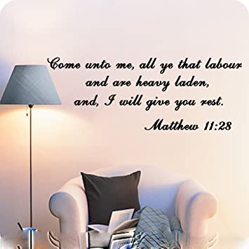 Amazon.com: Matthew 11:28 - On Sale Vinyl Wall Decals Religious ...