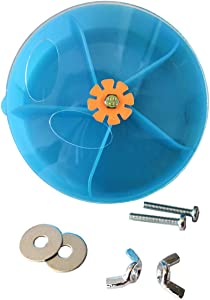 Bird Creative Foraging System Wheel Seed Food Ball Rotate Training Toy for Small and Medium Parrots Parakeet Cockatiel Conure (Blue)