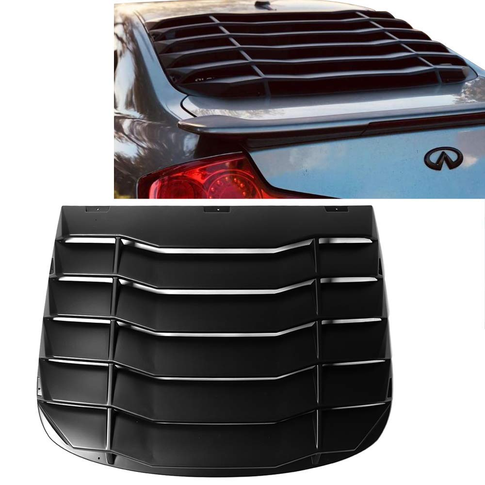 Rear Window Louver Fits 03-07 Infiniti G35 Coupe Unpainted PP by IKON MOTORSPRTS