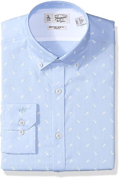 Original Penguin Camisa de Vestir Oxford para Hombre - Azul - 42 ...