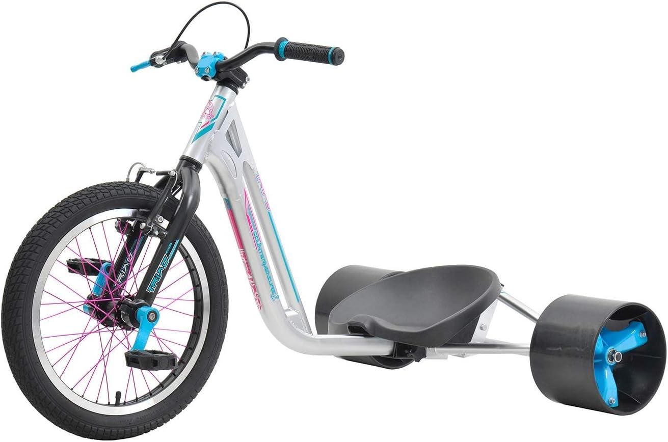 Triad - Contador de Medidas Trik Sports Leisure Material sintético para Bicicletas de Deriva, Color Plateado y Naranja