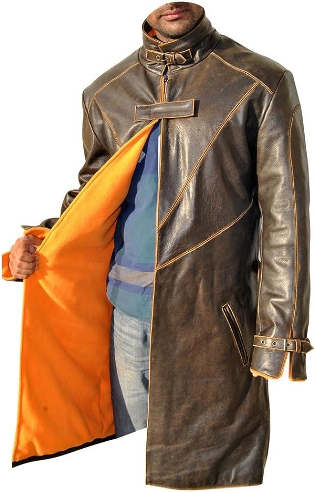 coolhides Mens Watchdog Distress Leather Jacket
