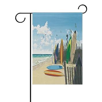 LIANCHENYI Tabla de surf de doble cara, bandera de la familia de poliéster, bandera