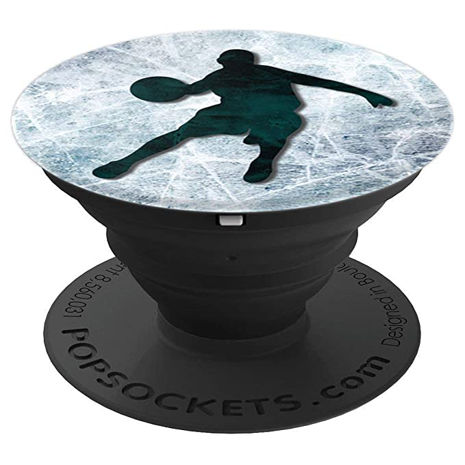 Cool Basketball Player on Teal Marble Look Holder Accessory - PopSockets Grip and Stand for Phones and Tablets
